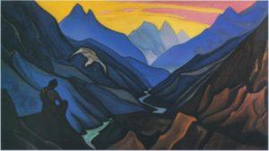 Картина Николая Рериха «Приказ учителя» (Завет Учителя), 1947 г.