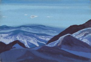 Картина Н.К.Рериха. Монголия. Перевал за Калган. 1935-1936