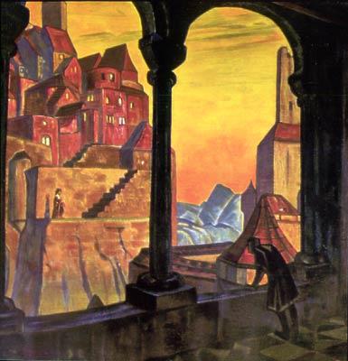 Картина Н.К.Рериха. Пылающее сердце (Cor Ardens). 1917