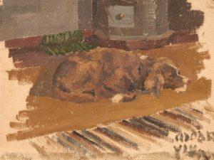 Картина Н.К.Рериха. Собака ушла [Этюд] 1890-е