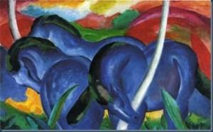 Los caballitos azules Franz Marc