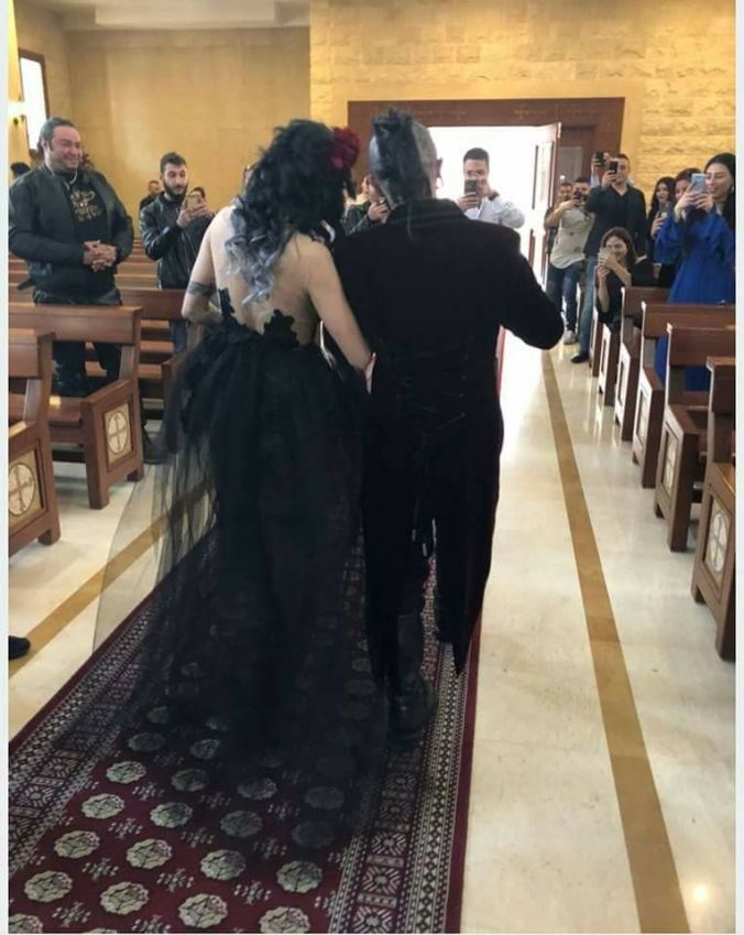 A Beautiful Goth Themed Wedding In Lebanon Metal Bell Magazine