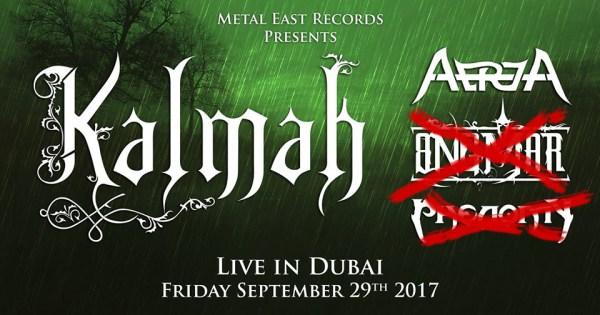 PHENOMY And ANGMAR Cancel Participation In Kalmah Dubai Show