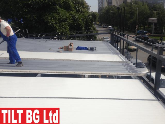 Монтиране на покривен термопанел. Монтиране на метални конструкции, производство на метална конструкция. Доставка на термопанел.