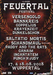 Feuertal Festival 2018 Flyer