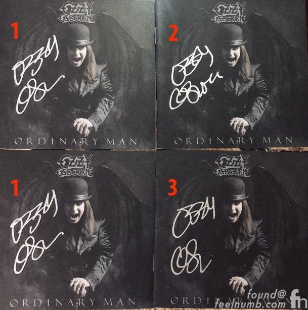 Ozzy Fake Autographs