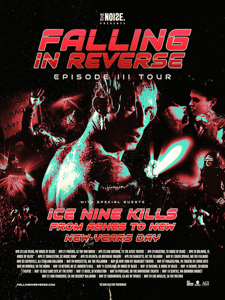 Silver Iphone Wallpaper Falling In Reverse Announce U S Tour With Ice Nine Kills
