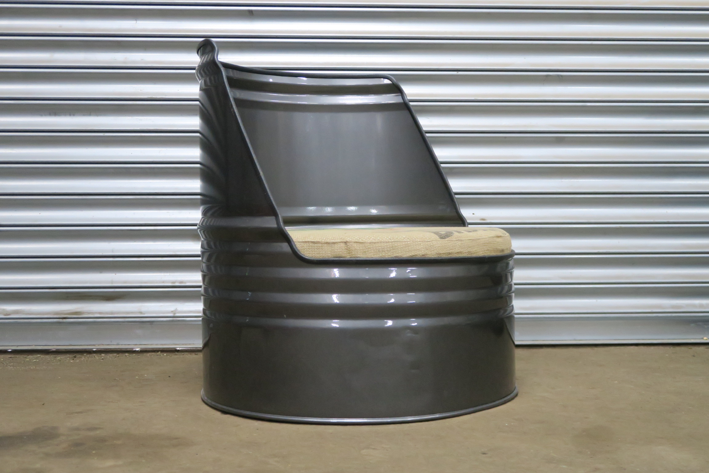 Drum Chair Oil Drum Chair Short Metal And Dust