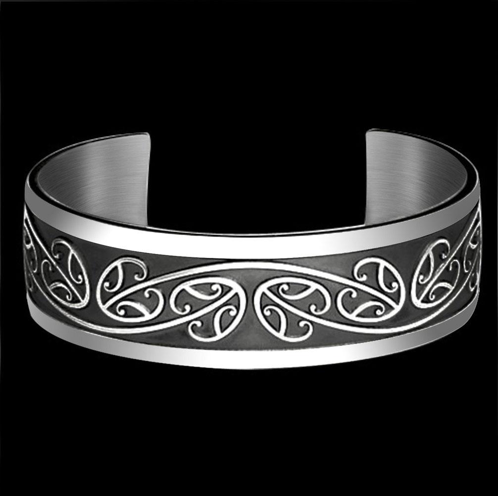 Sterling Silver Maori Koru Bracelet By Metal Arts Group
