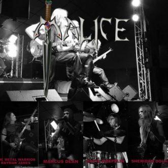 0E - Malice band live collage