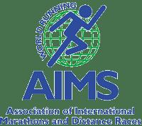Metal badge aims-logo