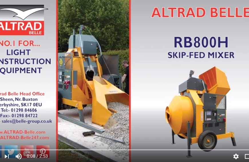 Altrad Belle – RB800H Skip Fed Mixer Demo