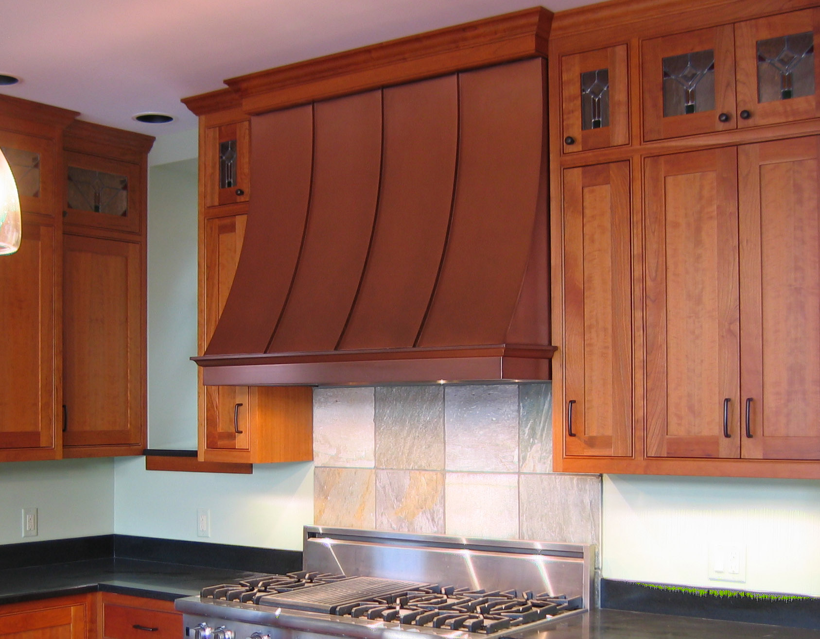 copper kitchen hoods restaurant door vergennes range metal design vt hood