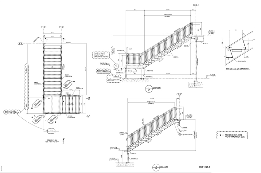 Metal Detailing Solutions Steel Shop Drawings Examples