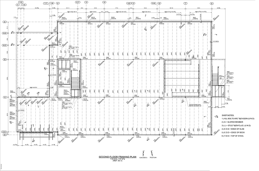 Second Floor Steel Framing Plan | Framess.co