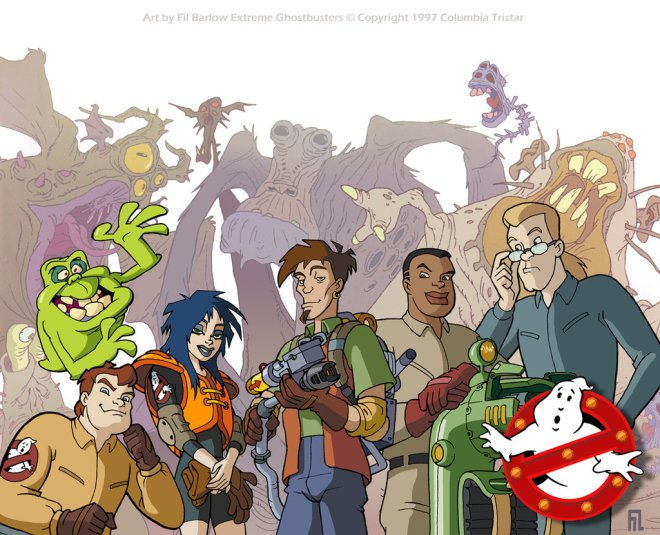 Leading characters from Extreme Ghostbusters