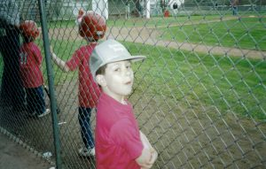 Keith in Spring Little League