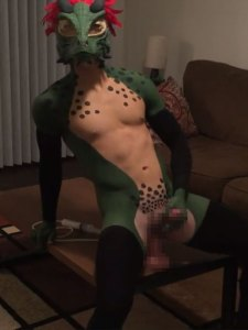The Naked Lizard Man