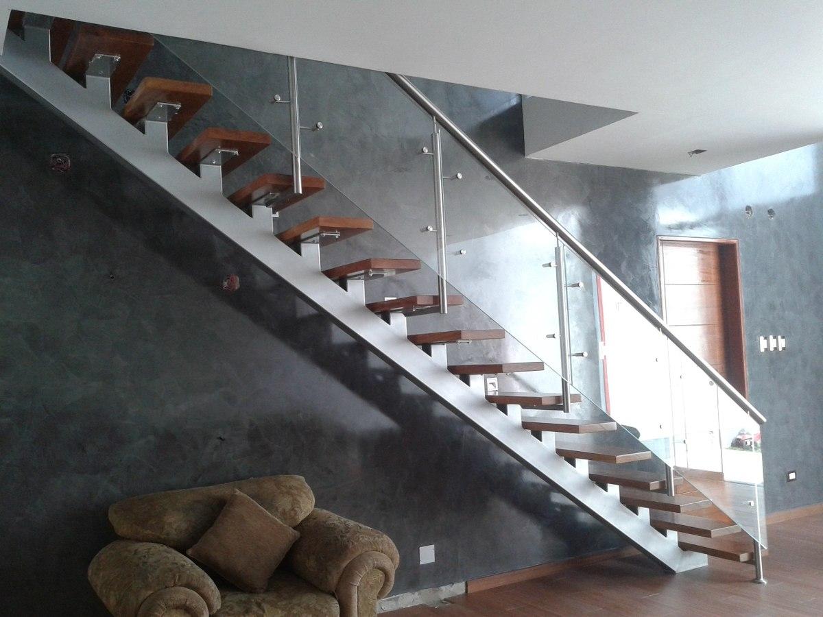 Barandas en vidrio aluminio y acero inoxidable for Barandas de vidrio y acero