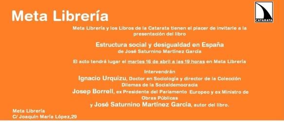 Presentación estructura social y desigualdad en España 1
