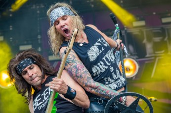 Michael and Satchel having a Steel Panther moment at Heavy Montreal 2019