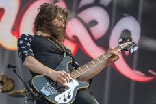 Michael Devin, Whitenake bassist, ripping it up at Hellfest 2019