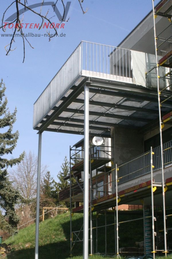 Stahlbalkon  Torsten Nrr Schlosserei  Metallbau