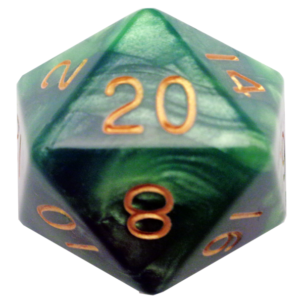 Green and Light Green D20 Mega Acrylic