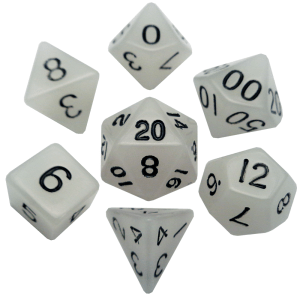 Glow In The Dark Clear Dice Set