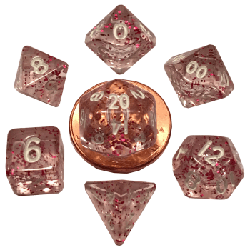 Ethereal Light Purple Mini Poly Dice Set