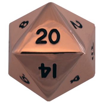 Factory Second Antique Copper Metal D20 Mega