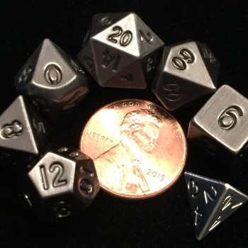 Silver Metal Mini Dice