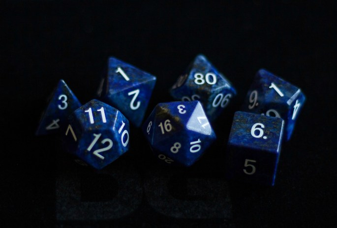 Lapis Lazuli: Full-Sized 16mm Polyhedral Set