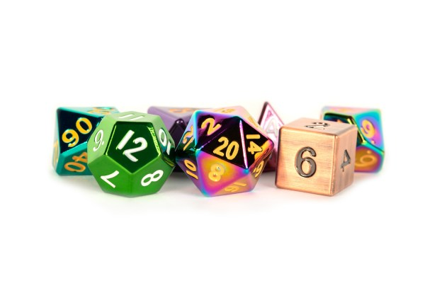 Adopt a Misfit Metal Dice Set 16mm Polyhedral Dice Set