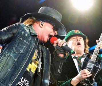 Angus Young ja Angry Anderson lavalla Guns N' Rosesin kanssa Australiassa: katso videoita esityksistä