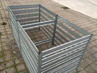 Komposter - Anbauset XXL aus Metall 1 m x 1 m x 1 m verzinkt