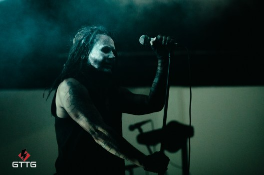 Mortiis performing at Epic Studios Norwich on 17 March 2017, the Swine and Punishment Tour.