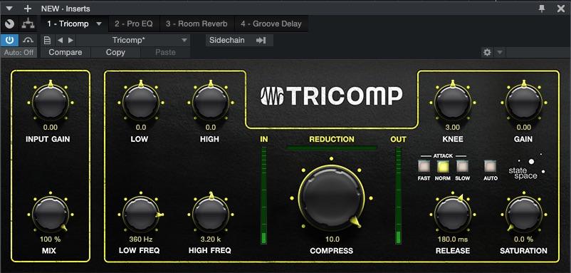 Studio plugins tricomp compressor