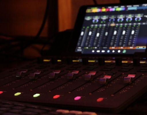 recording studio digital mixer