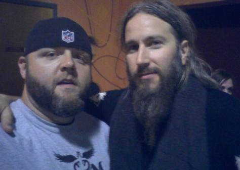 Douglas with Troy Sanders
