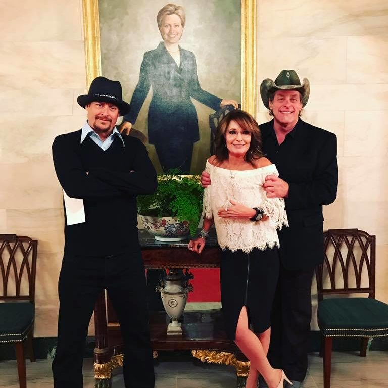 Ted Nugent, Kid Rock, & Sarah Palin Visit The White House, Marxist Go Full Pendejo