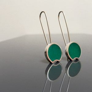resin GREEN dangle earrings