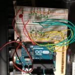 Arduino with LEDs on prototype board