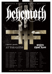 Behemoth and At the Gates tour poster