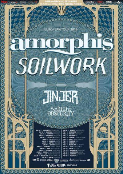 Amorphis Soilwork Nailed To Obscurity Tour