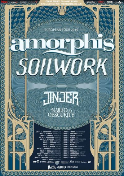Amorphis Soilwork Nailed To Obscurity Tour
