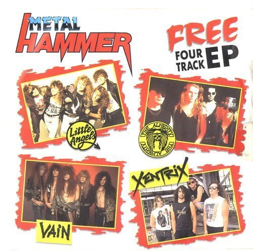 Metal Hammer EP photograph from 1990. The EP contained songs by Xentrix, Little Angels, The Almighty and Vain.