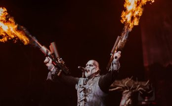 Powerwolf live at Bloodstock 2019 with pyro cannon