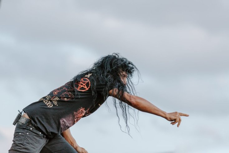 Joey Belladonna of Anthrax at Bloodstock 2019