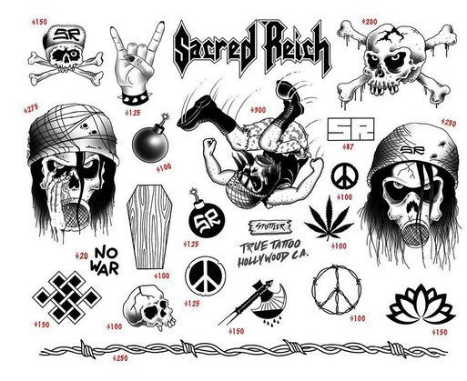 Sacred Reich tattoo flash image